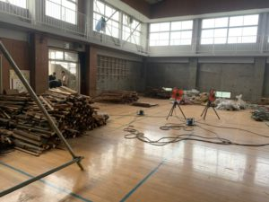 体育館の解体